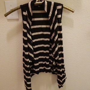 Black and gold Striped vest